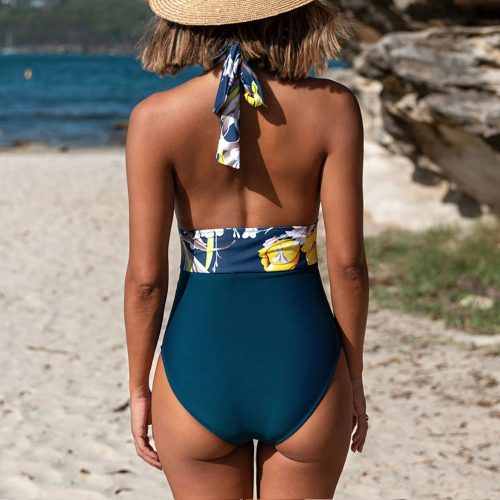 Swimsuit Lace Up Open Back