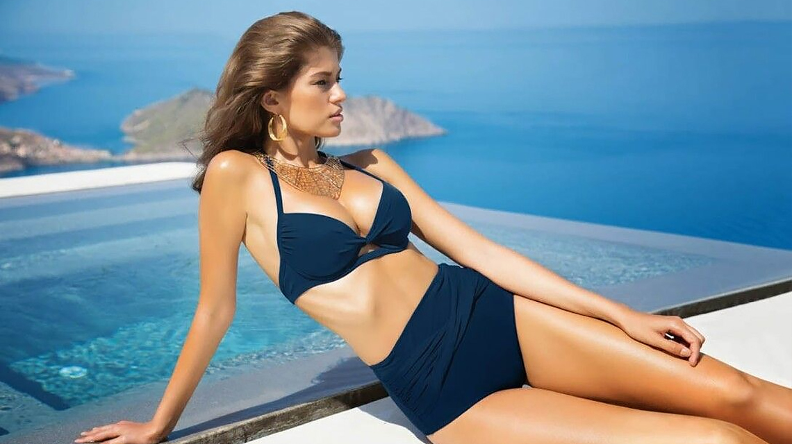 Who is a High-Waisted Swimsuit for?